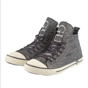 Guess Metallic Shimmery High Top Sneakers